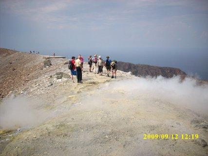 FOTKA - Sicílie,ostrov  Vulkáno - sopka, kráter