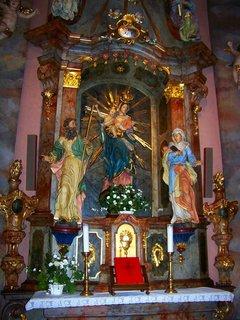 FOTKA - další z oltářů, sv. Maria s Ježíšem a svými rodiči