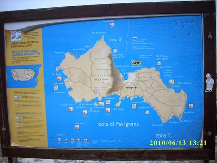 FOTKA - mapa ostrova Favignana