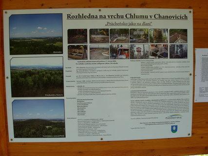 FOTKA - součástí NS kolem Chanovic je rozhlednna na Chlumu (608 m n.m.)