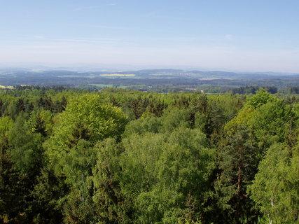 FOTKA -  pohled z  rozhledny Chlum u Chanovic  - Prácheňsko jako na dlani