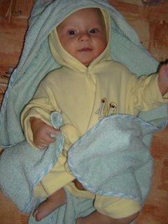 FOTKA - syn od neteře -  po koupeli