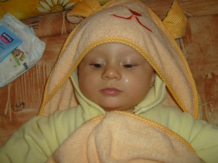 FOTKA - Synovec - po koupeli.