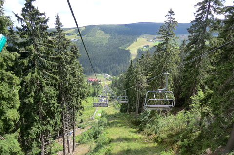 FOTKA - Krkonoše - lanovka nad Pecí