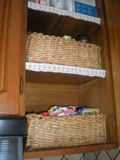 FOTKA - moje pleteni - košíky v kuchyni na koření