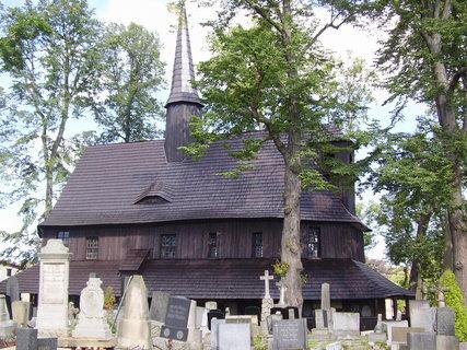 FOTKA - hřbitovní kostel Panny Marie, Broumov, nejstarší dochovaná celodřevěná stavba ve střední Evropě (14.stol.)....