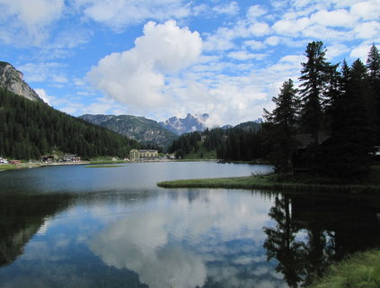 FOTKA - Lago di Misurina a zrcadlení