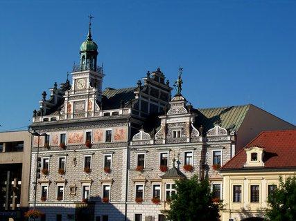 FOTKA - Krásná radnice v Kolíně na náměstí