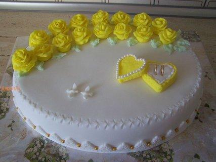 FOTKA - svatební ovál-žlutý