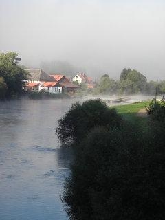 FOTKA - Sázava v ranním oparu