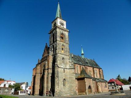 FOTKA - Chrám sv. Jiljí gotická cihlová architektura Nymburka