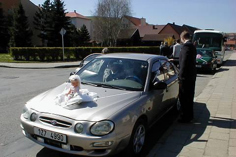 FOTKA - moje svatební autíčko