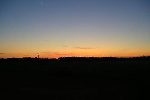 FOTKA - východ slunce z našeho okna
