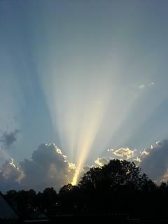 FOTKA - západ slunce ze zahrady