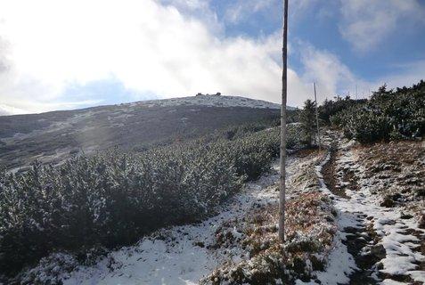 FOTKA - Říjnové Krkonoše - pohled na Sněžku