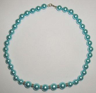 FOTKA - Perličkový náhrdelník v tyrkysové barvě