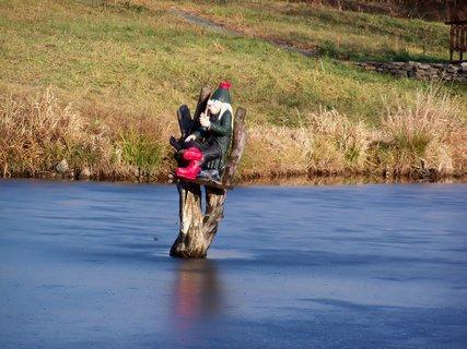 FOTKA - Rybníček mu zamrzl :-(