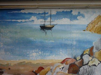 FOTKA - Obrázek na zdi domu v Leptokarii I