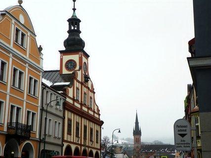 FOTKA - Centrum města, na hoře na kopcích se lyžovalo