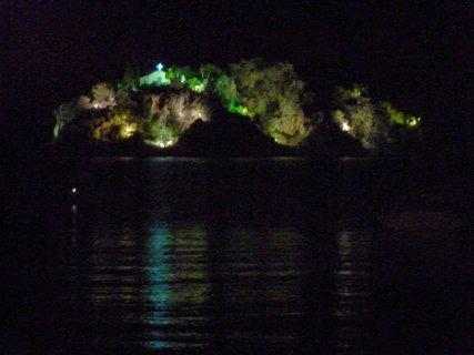 FOTKA - Noční ostrov s kostelíkem
