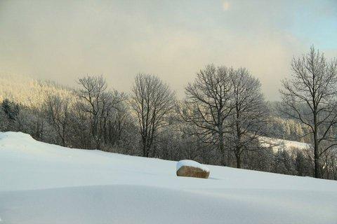 FOTKA - slunce za kopcem
