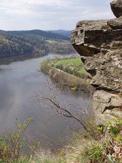 FOTKA - výhled na řeku - z toulek Povltavím, oblast Sedlčansko