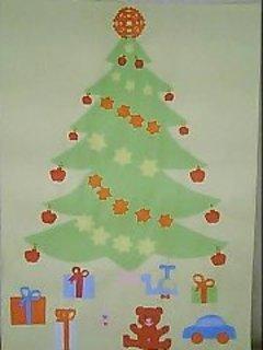 FOTKA - vánoční stromek z barevných papírů