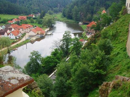 FOTKA - Bechyně - pohled ze zámku na Lužnici