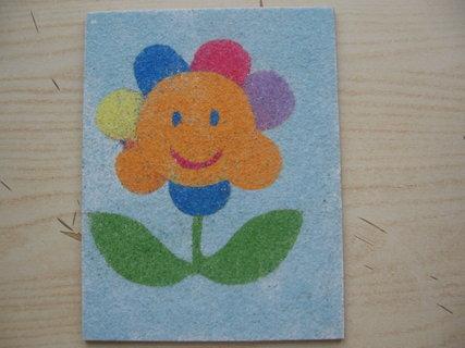 FOTKA - kvetinka vysypaná pieskom
