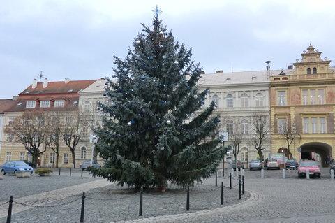 FOTKA - I 17.ledna zdobí náměstí krásný vánoční stromek