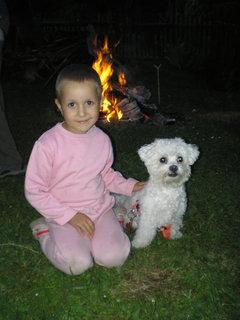 FOTKA - s Adámkem u táboráčku
