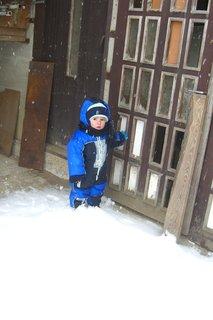 FOTKA - Maťko v zime ,