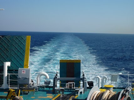FOTKA - Vodní stopa za lodí