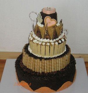 FOTKA - 5-patrový dort na 50.výročí svatby