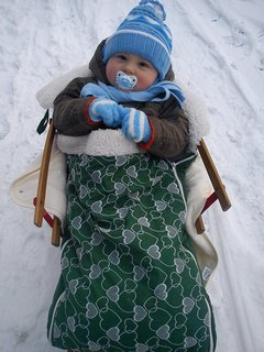 FOTKA - Synovec   a  zima