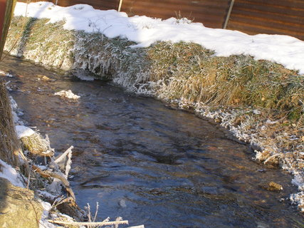 FOTKA - potok v zimě