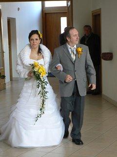 FOTKA - nevěsta s tatínkem