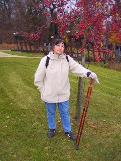FOTKA - Nordig walking v parku