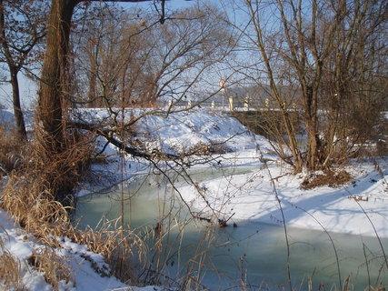 FOTKA - u potoka - únor 2012 .