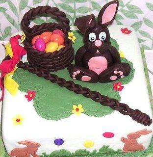 FOTKA - Velikonoční dortík se zajíčkem