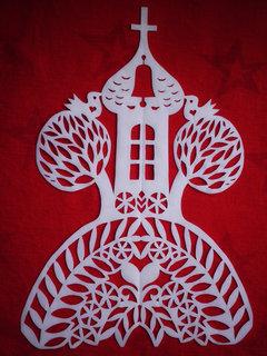 FOTKA - Velikonoční dekorace z papíru - Kostelík