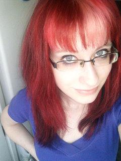 FOTKA - Dcera -nová barva vlasů