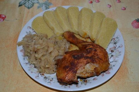 FOTKA - Bramborový knedlíky s kuřetem (knedlíky jsem dělala po roce)