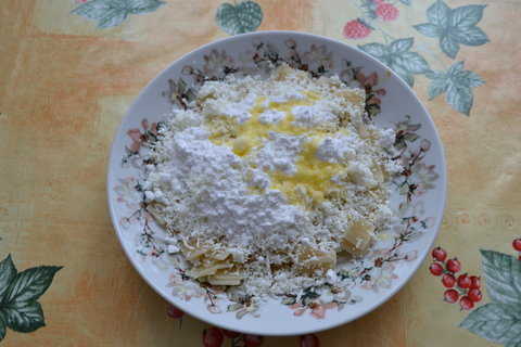 FOTKA - Těstoviny s tvarohem a cukrem