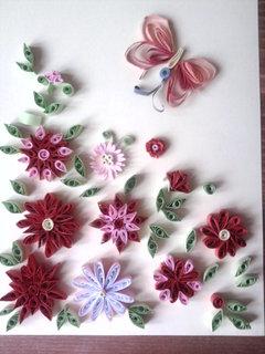 FOTKA - papírové kytičky
