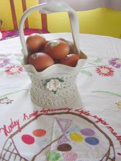 FOTKA - vajíčka barvená v cibuli