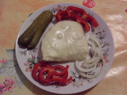 FOTKA - Zapečený chleba se šunkou a sýrem.