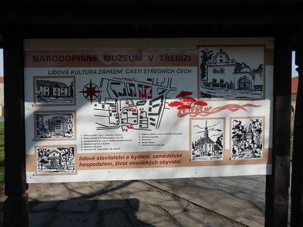 FOTKA - plánek skanzenu - v obci Třebíz na Slánsku