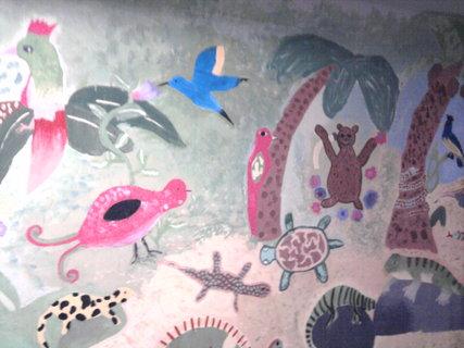 FOTKA - malovaný podchod na nádraží v Teplicích