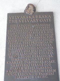 FOTKA - Slaný, Velvarská brána - info